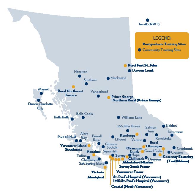 Postgraduate Training Map