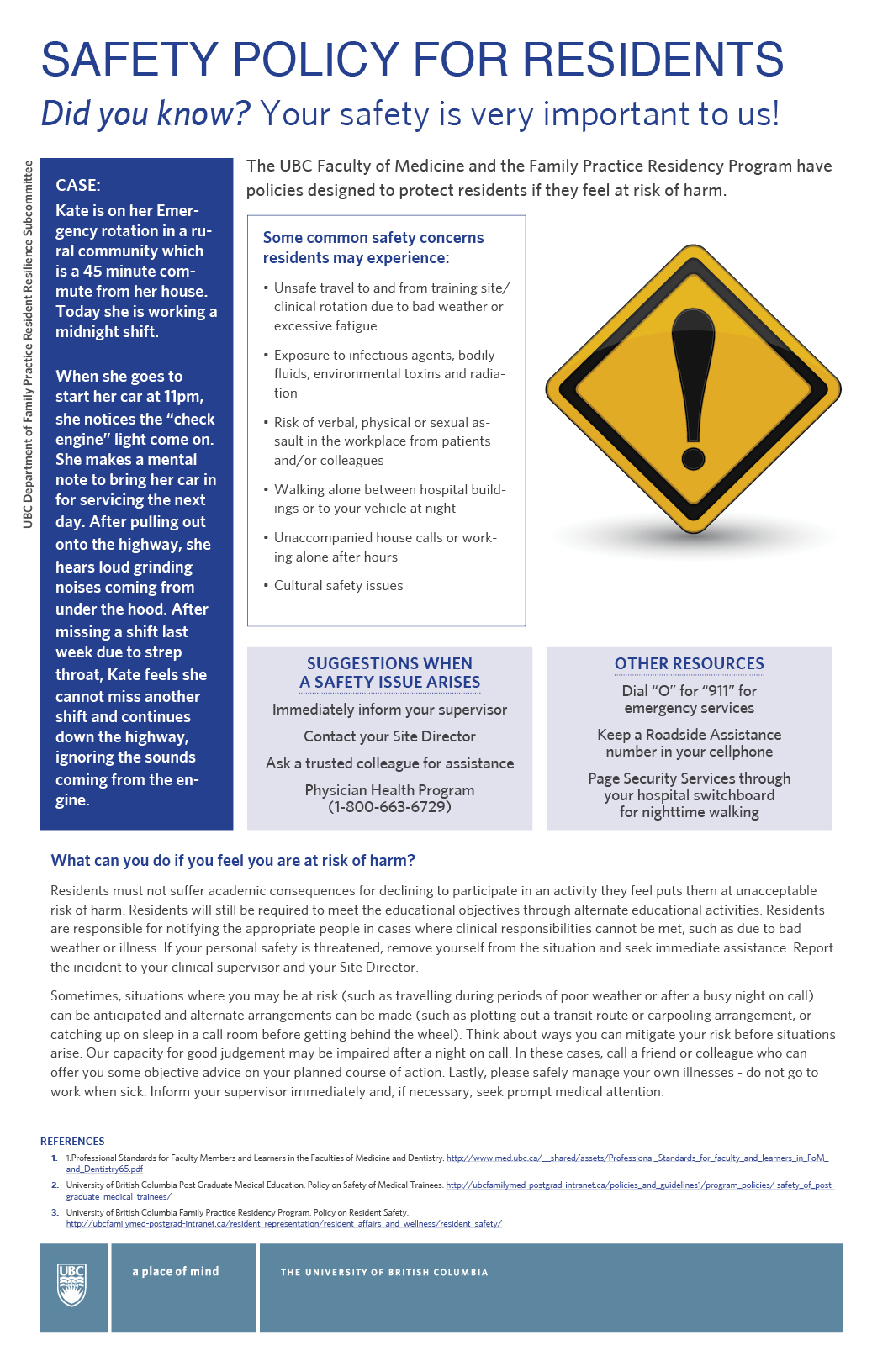 Residents Safety Poster